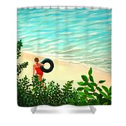 Summer Swim Shower Curtain