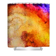 Summer Swirl Shower Curtain by Pixel Chimp