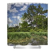 Summer Time At Moraine View State Park Shower Curtain
