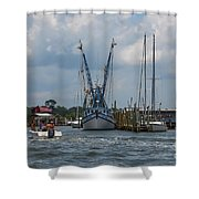 Summer Time Boating Shower Curtain