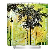 Summer Time In The Tropics By Madart Shower Curtain
