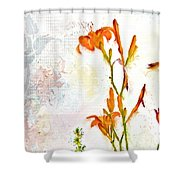Summer Trinity Top One Of Three Shower Curtain