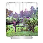 Summer Valley Fence Shower Curtain