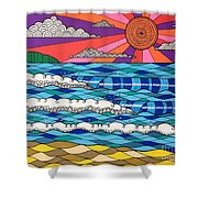 Summer Vibes Shower Curtain by Susan Claire