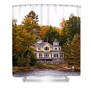 Summerhome On A River Shower Curtain