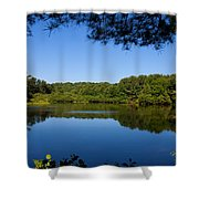Summers Blue View Shower Curtain