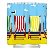 Summers Comin Shower Curtain