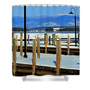 Summers Docked For Winter Shower Curtain