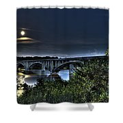 Summer's Full Moon Shower Curtain