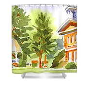 Summers Morning On The Courthouse Square Shower Curtain