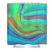 Summertide Shower Curtain by ME Kozdron
