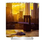 Summertime At The Brooklyn Bridge Shower Curtain