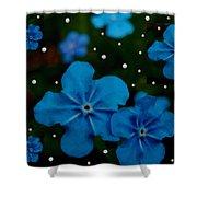 Summertime Blues Pop Art Shower Curtain