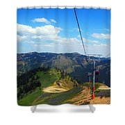 Summertime Chairlift Ride Shower Curtain