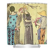 Summertime Dress Designs By Paul Poiret Shower Curtain by French School