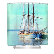 Summertime Will Be Soon And Then We Will Sail Away Again  Shower Curtain