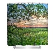 Summertime Sunset Shower Curtain