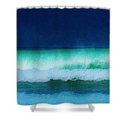 Summertime Surf Shower Curtain