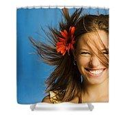 Summery Model Shower Curtain