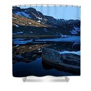 Summit Lake Calm Shower Curtain