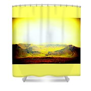 The Sun Also Rises And So Do The Mountains  Shower Curtain