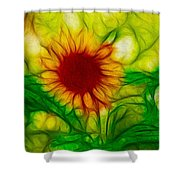 Sun And A Flower Shower Curtain