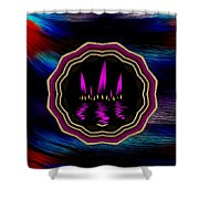 Sun And Flames Shower Curtain