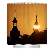 Sun And Moons Shower Curtain
