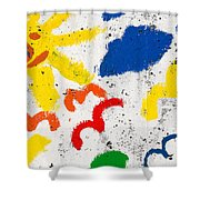 Sun And Seagulls Shower Curtain