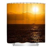Sun And Ship Shower Curtain