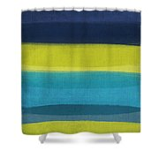 Sun And Surf Shower Curtain by Linda Woods