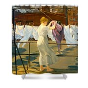 Sun And Wind On The Roof Shower Curtain