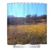 Sun Beam Hills Shower Curtain