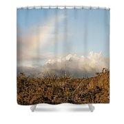 Sun - Clouds - Rainbow Shower Curtain