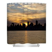 Sun Comes Up On New York City Shower Curtain