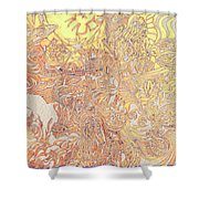 Sun Cow Shower Curtain