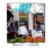 Sun Dappled Umbrella - Cool Fruit On A Hot Day Shower Curtain
