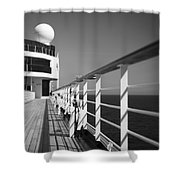 Sun Deck Shadows Shower Curtain