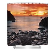 Sun Descends On Northcoast Shower Curtain