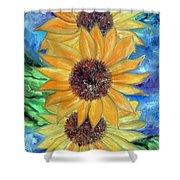 Sun Flower II Shower Curtain