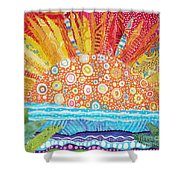 Sun Glory Shower Curtain by Susan Rienzo