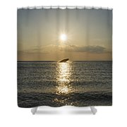 Sun Going Down In Cape May Shower Curtain