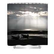 Sun In The Clouds Shower Curtain