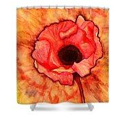 Sun Kissed Poppy Shower Curtain