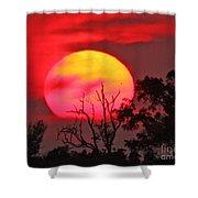 Louisiana Sunset On Fire Shower Curtain