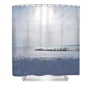 Sun On Snow Shower Curtain