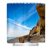 Sun On The Beach Shower Curtain