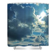 Sun Peeping Out Shower Curtain