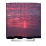 Sun Pillar Horizontal Shower Curtain