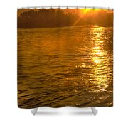 Sun Rays On The Payette River Shower Curtain